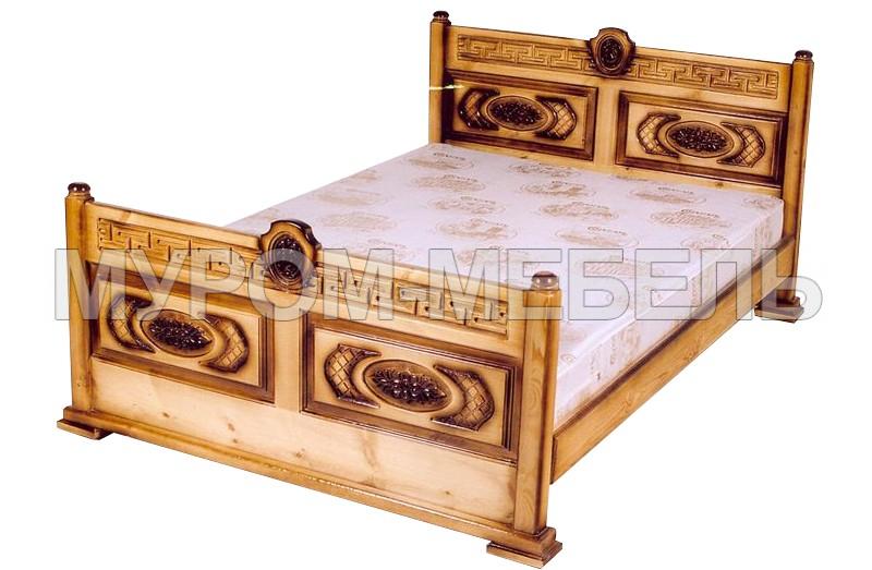 Здесь изображено Кровать Греческая резная