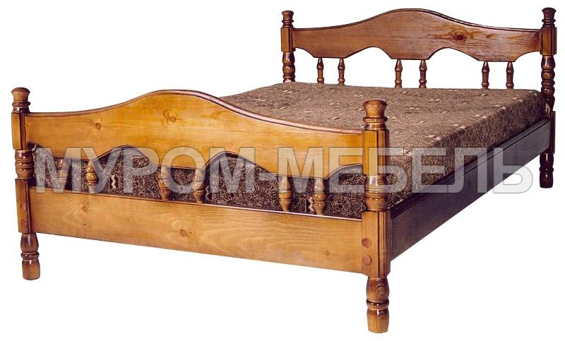 Здесь изображено Кровать Точенка Волна