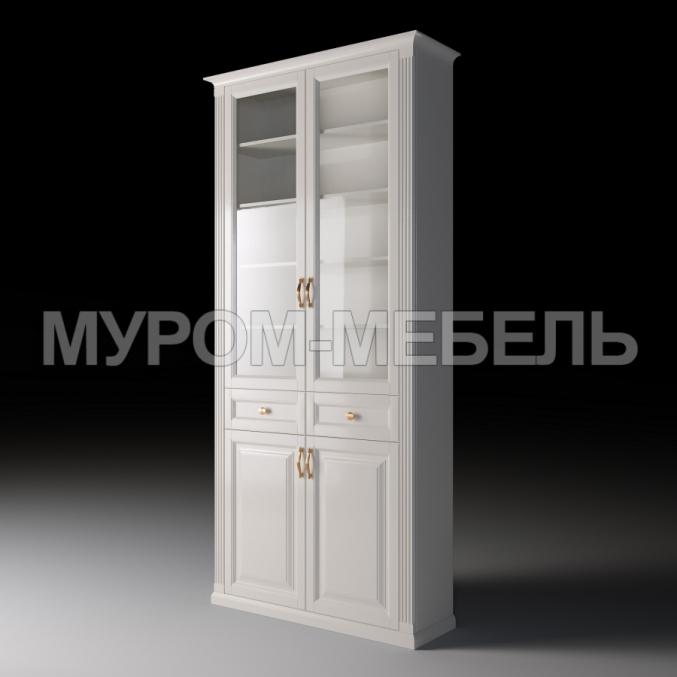Здесь изображено Шкаф двухстворчатый с ящиками из серии