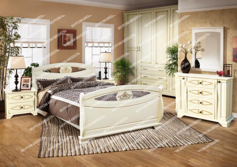Здесь изображено Спальный гарнитур Эльза
