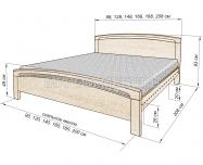 Здесь изображено Кровать Бали из дуба