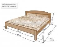 Здесь изображено Кровать Бриз c мягкой вставкой