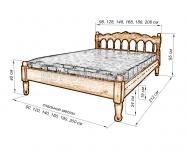 Здесь изображено Кровать Марго резная
