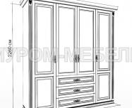 Шкаф Дарина 4-створчатый из сосны