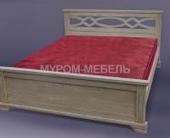 Здесь изображено Кровать Лира из дуба