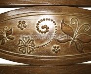 Здесь изображено Кровать Лирона (сосна, резьба береза)