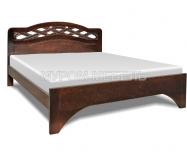 Здесь изображено Кровать Вирсавия из дуба