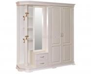Здесь изображено Шкаф для прихожей Флоренция-2 слоновая кость