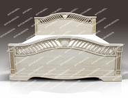 Здесь изображено Кровать Милена из дуба