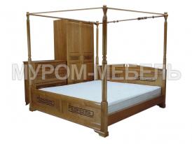 Здесь изображено Кровать Афина с балдахином  из сосны