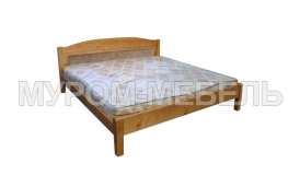 Здесь изображено Кровать Бриз c мягкой вставкой  из сосны