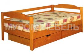 Здесь изображено Кровать Детская с ящиками 2 из сосны