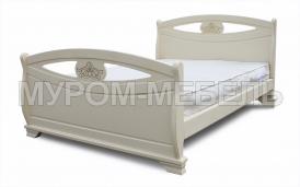 Здесь изображено Деревянная кровать Эльза
