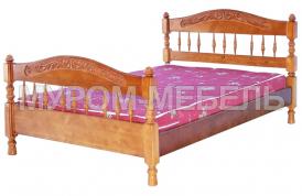Здесь изображено Кровать Калинка из сосны