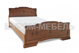 Здесь изображено Кровать Крокус-2 из сосны