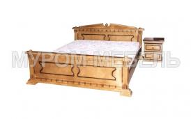 Здесь изображено Кровать Клеопатра-1 из сосны