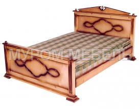 Здесь изображено Кровать Клеопатра  из сосны