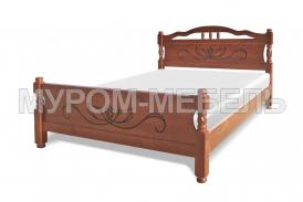 Здесь изображено Недорогая кровать Крокус-1