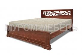 Здесь изображено Деревянная кровать Лирос