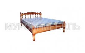 Здесь изображено Кровать Марго резная из сосны