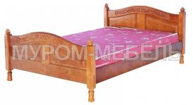 Здесь изображено Недорогая кровать Муромлянка