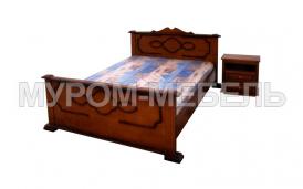 Здесь изображено Кровать Надежда-1 из сосны