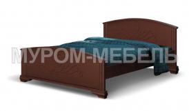 Здесь изображено Деревянная кровать Нова