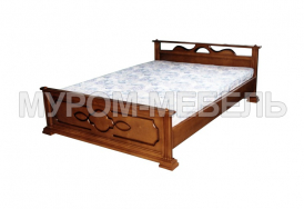 Здесь изображено Недорогая кровать Оксана-1