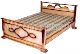 Здесь изображено Кровать Оксана из сосны