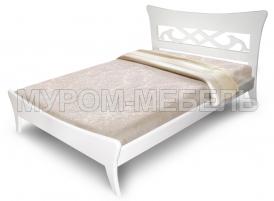 Здесь изображено Деревянная кровать Сильва