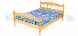 Здесь изображено Кровать Соня из сосны