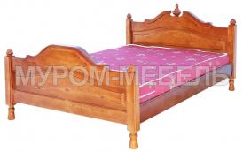 Здесь изображено Кровать Старорусская из сосны