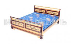 Здесь изображено Кровать Стиль из сосны
