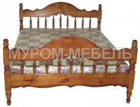 Здесь изображено Кровать Точенка из сосны