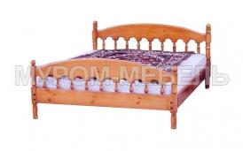 Здесь изображено Недорогая кровать Точенка Классика