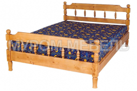 Здесь изображено Кровать Точенка Новинка из сосны