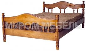 Здесь изображено Кровать Точенка Волна  из сосны