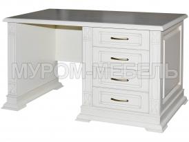 Здесь изображено Письменный стол Флоренция-1 слоновая кость