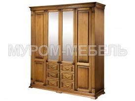 Здесь изображено Шкаф 4-х створчатый Флоренция