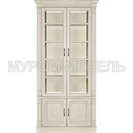 Здесь изображено Шкаф двойной Флоренция-3 слоновая кость