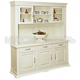 Здесь изображено Шкаф комбинированный Флоренция-2 слоновая кость