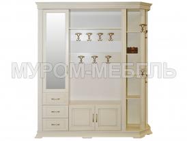 Здесь изображено Шкаф для прихожей Флоренция-1 слоновая кость