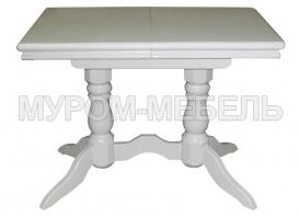 Здесь изображено Стол 2 ноги прямоугольный эмаль, с обкладом