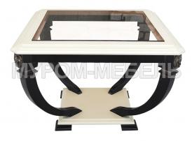 Здесь изображено Стол Лев-1 со стеклом