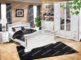 Здесь изображено Спальный гарнитур Милена из дуба